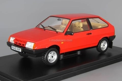 VAZ-2108 Lada Samara red 1:24 Legendary Soviet cars Hachette #19