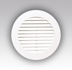 Решетка круглая с фланцем 100 мм пластиковая