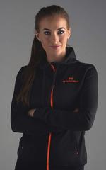 Толстовка с капюшоном Nordski Hood Black-Orange женская