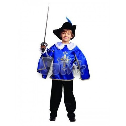 Карнавальный костюм Мушкетер (синий)
