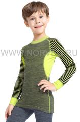 Терморубашка из шерсти мериноса Norveg Climate Control Lime детская