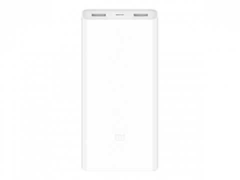 Внешний аккумулятор Xiaomi Mi Power Bank 2C 20000 20000мАч, USB, белый