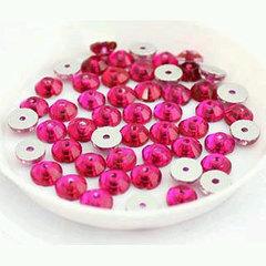 Как пришить стразы с одним отверстием Fuchsia ярко-розовые