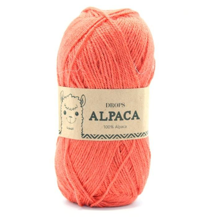 Пряжа Drops Alpaca 2915 оранжевый