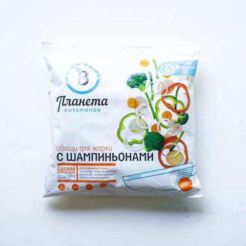Овощи для жарки с шампиньонами