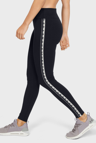 Женские черные тайтсы UA FAVORITE LEGGING BRANDED Under Armour