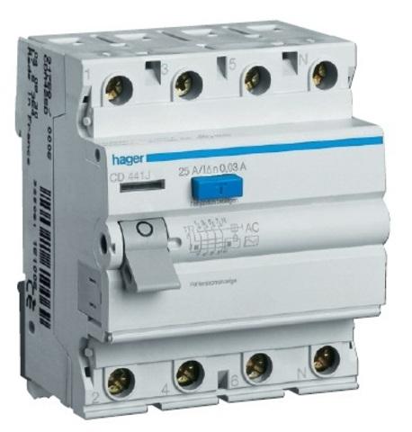 Устройство защитного отключения 4P 80A/300mA-A,6kA