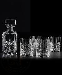 Набор из 4 хрустальных стаканов для виски и декантера Highland, фото 1