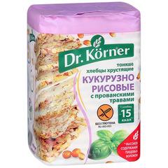 """Хлебцы """"Dr. Korner"""" кукурузно-рисовые с прованскими травами 100 г"""