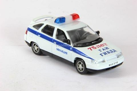 VAZ-2112 Lada Police 75 years GAI GIBDD Agat Mossar Tantal 1:43