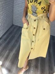 длинная желтая юбка nadya