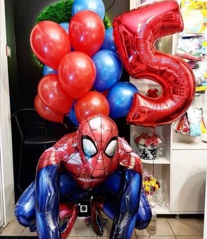 Сет шаров с ходячим Человеком-пауком