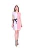 Платье Арина цвет розовый с белым