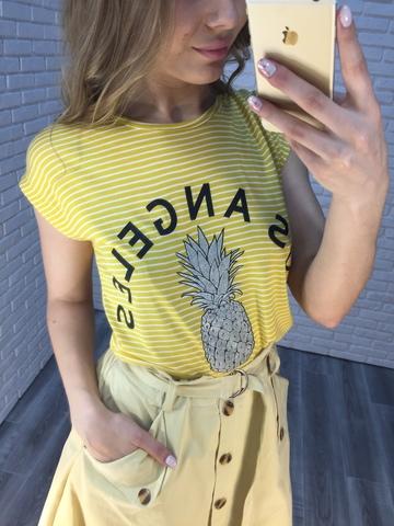 длинная желтая юбка недорого