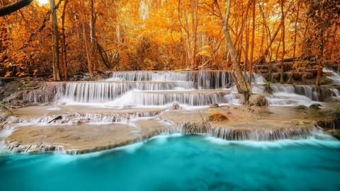 Картина раскраска по номерам 40x50 Сказочный водопад