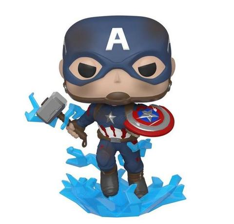 Фигурка Funko POP! Bobble: Marvel: Avengers Endgame: Capt A w/BrokenShieldMjolnir 45137