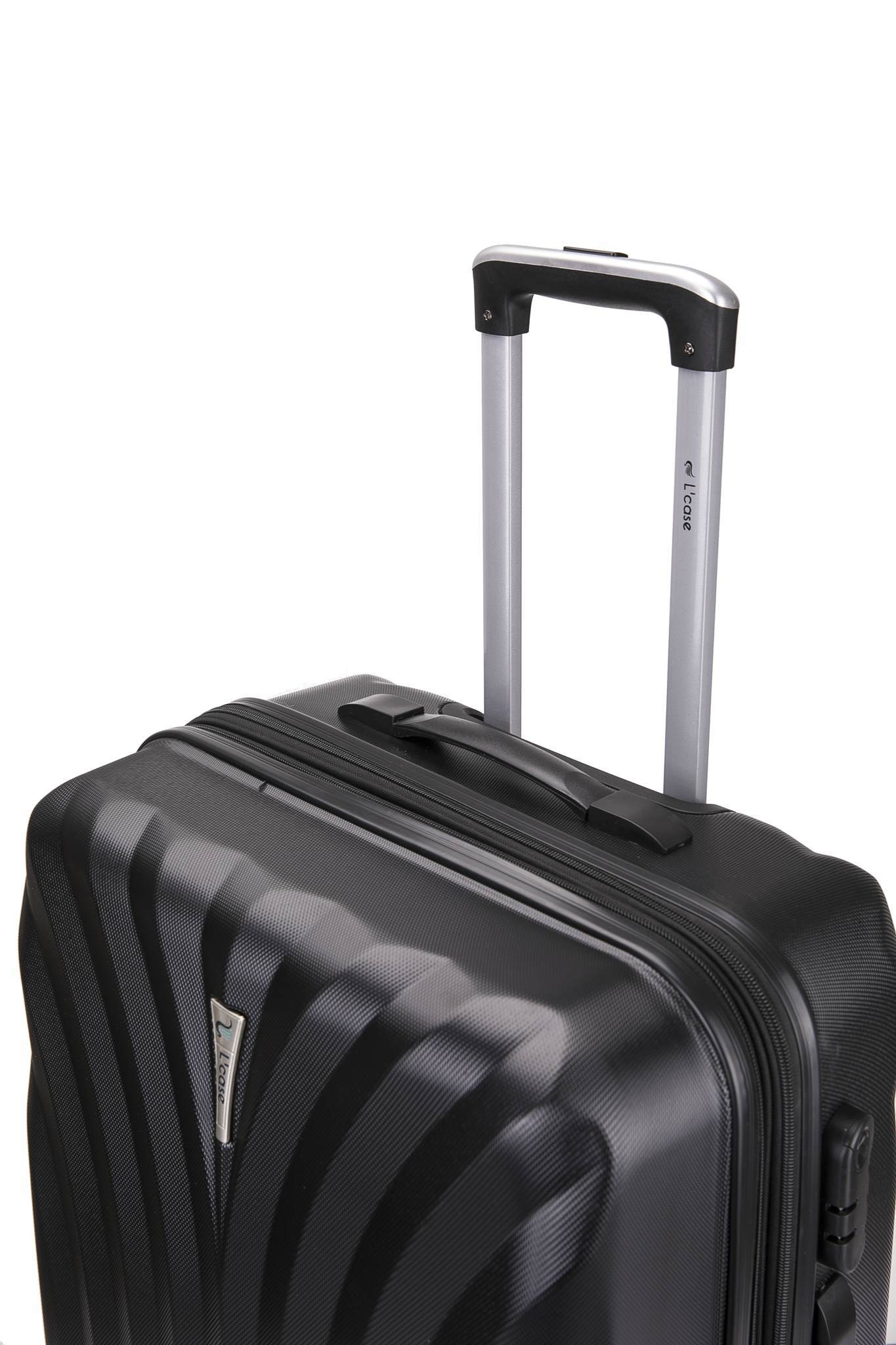 Чемодан с расширением L'case Phuket-28 Черный (XL)