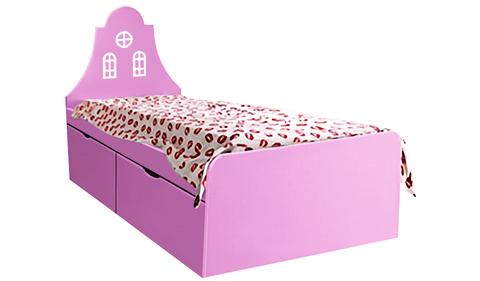 Детская кровать розового цвета