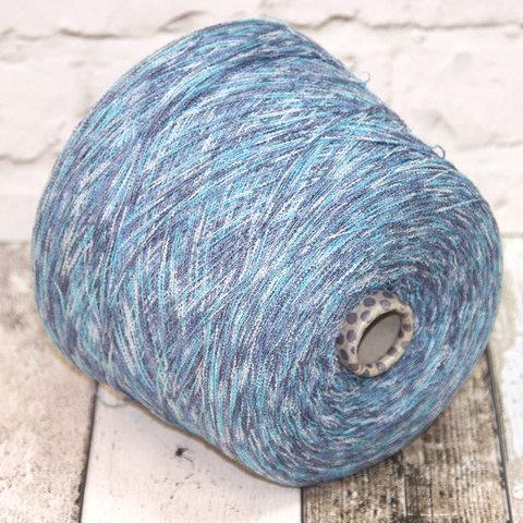 Шелк (70%) c нейлоном FILATI BURATTI 1300 голубой секционный
