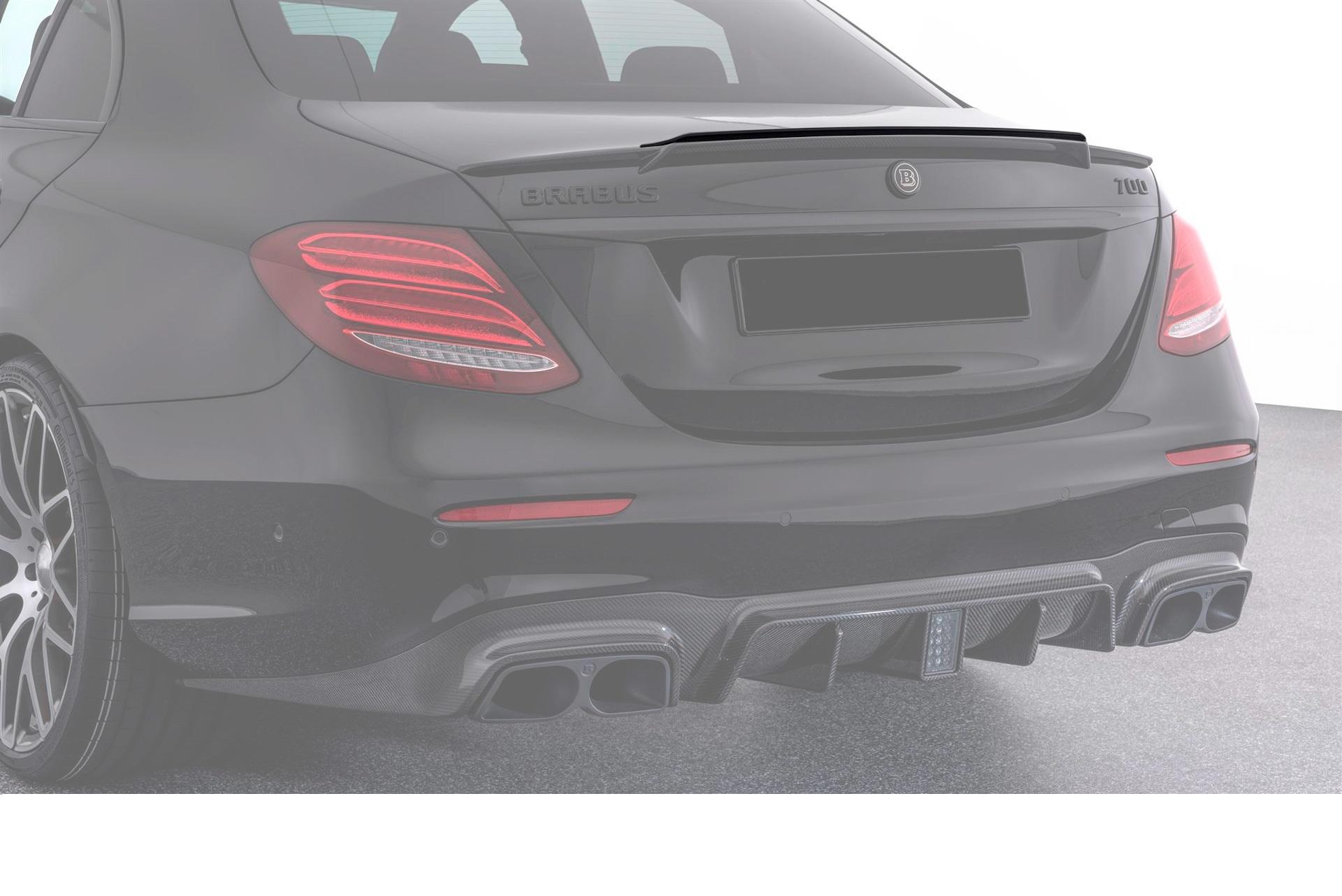 Карбоновая накладка на спойлер на багажник 63 AMG Brabus Style для Mercedes E-class W213