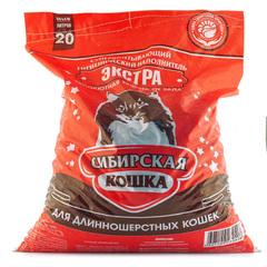 """Наполнитель для кошачьего туалета Сибирская кошка """"Экстра"""" 20л"""