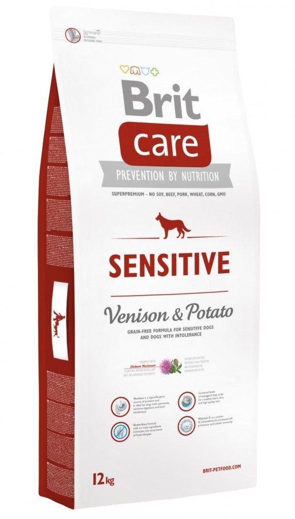 Brit Беззерновой корм для собак, Brit Care Sensitive Venison, с олениной и картофелем Brit-Care-Dog-Sensitive-12kg.jpg