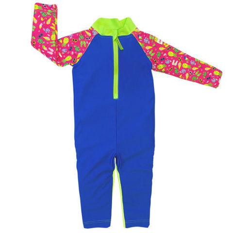 Детский плавательный костюм, print pink beach life, 74-80 см./ 6-12 мес.