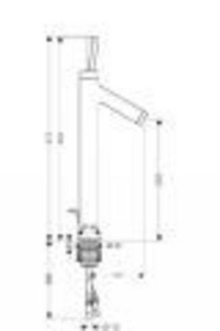 Смеситель для раковины, высокий Axor Starck 10120000 схема