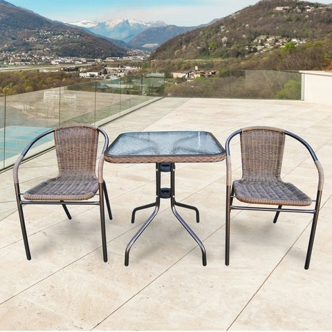 Комплект мебели Асоль-2A TLH-037AR3/060SR-60х60 Cappuccino (2+1)