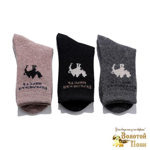 Носки детские верблюжья шерсть/махра (1-6) 191015-R-3556