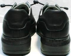 Осенние женские кроссовки с высокой подошвой Rozen M-520 All Black.