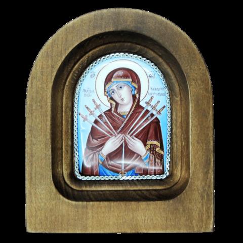 Икона финифть Умягчение злых сердец