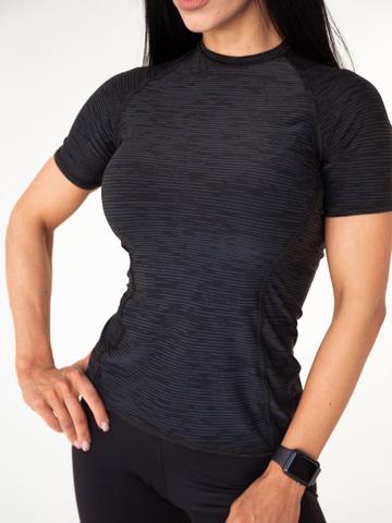 Футболка женская Lion gym MAXI PERFORATION T-SHIRT BLACK