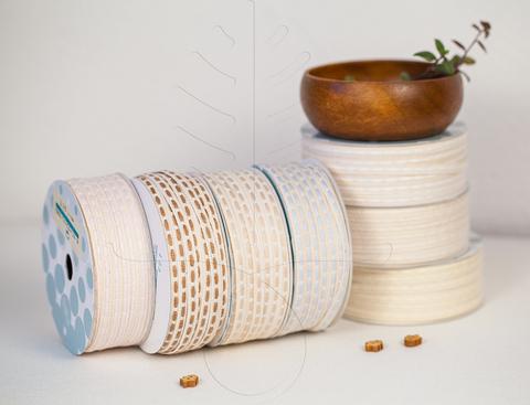 Оrganic, хлопковая тесьма 6 мм, 7 цветов