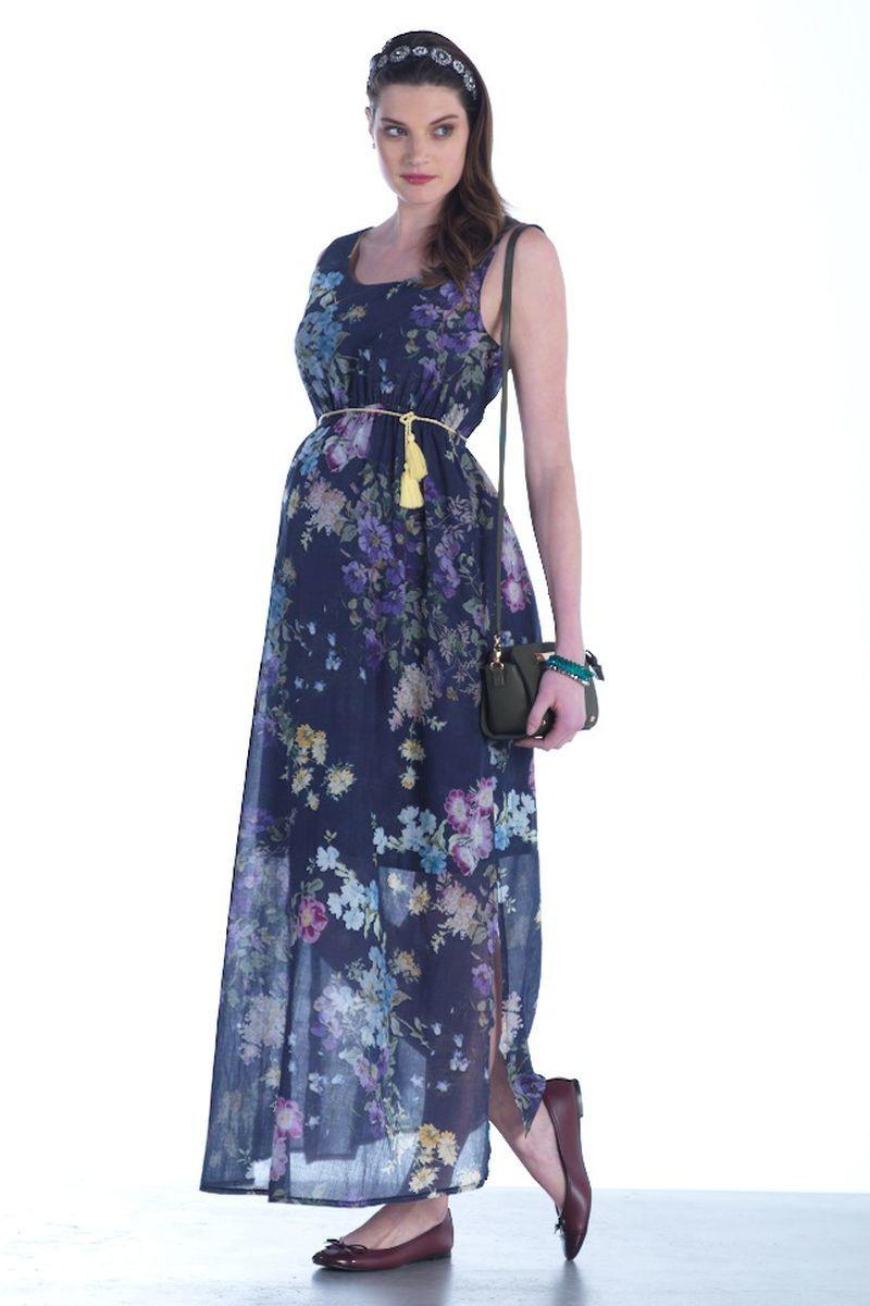 Платье для беременных 07451 синий
