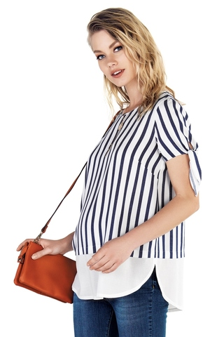 Блузка для беременных 10206 синий
