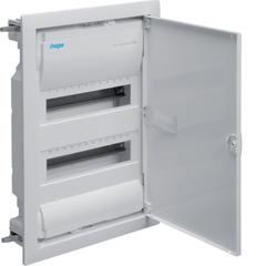 Щиток для пустотелых стен,Volta,IP30,2x12М,DIN43871, глубина уст 90мм, RAL9010