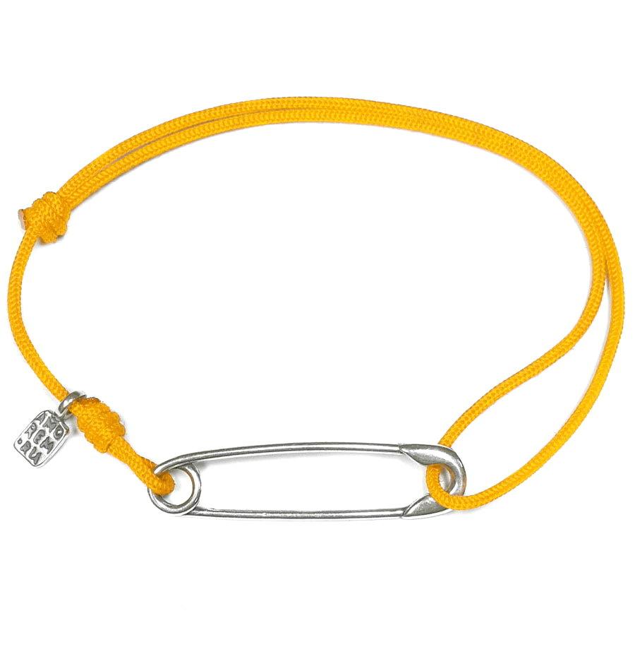 Safety Pin Bracelet, sterling silver