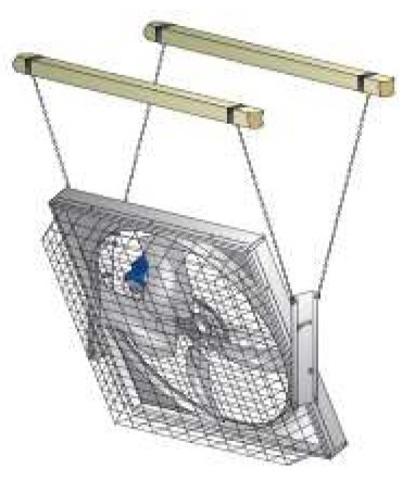 MFS36   Набор для подвеса вентилятора для коровников и ферм