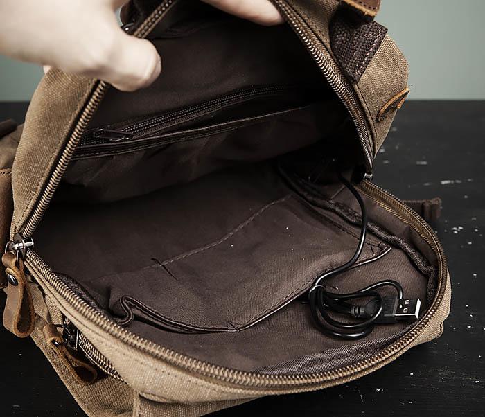 BAG476-2 Городской повседневный рюкзак с USB зарядкой фото 08