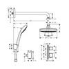 Комплект душевой системы внутреннего монтажа с термостатом Hansgrohe Croma Select E/Ecostat 27294000