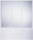 шторки для ванной 120см Кемерон, 3-х створчатая, Стекло, 120см