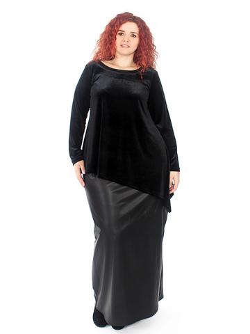Длинная юбка Кожа