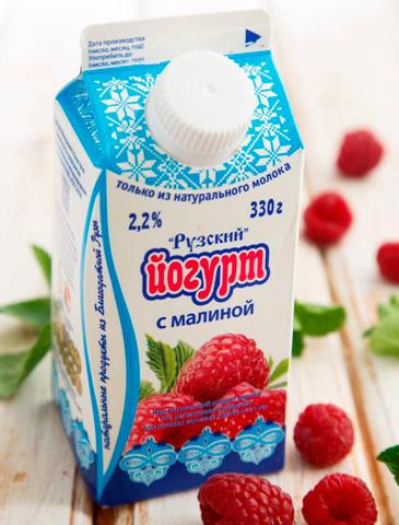 Йогурт с малиной 2,2%