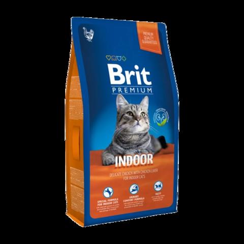Brit Premium Cat Indoor Сухой корм для кошек домашнего содержания с курицей и печенью