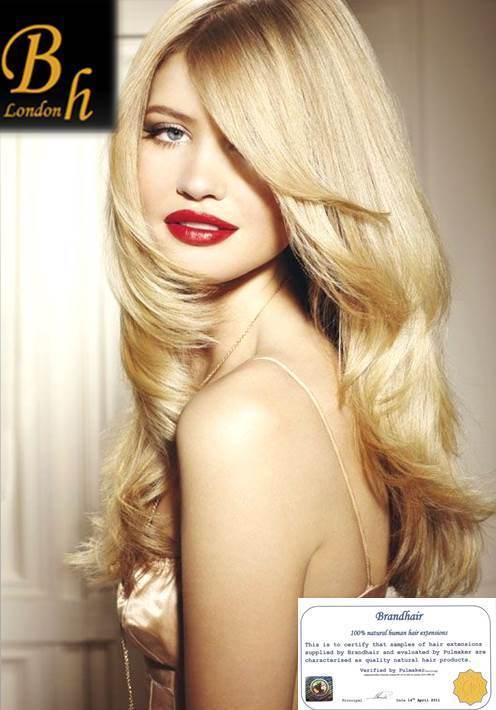Волосы на заколках,цвет #24-солнечный блондин