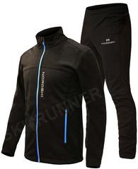 Утеплённый лыжный костюм Nordski Active Base Black 2020 мужской NSM483101-NSM307100