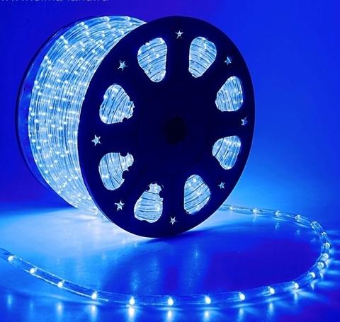 Дюралайт светодиодный, двухпроводной, круглый 13 мм, Синий, 36 LED/м, кратность резки 2 метра