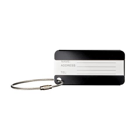 Бирка для багажа Wenger (604543) черная, 8x0,3x4 см