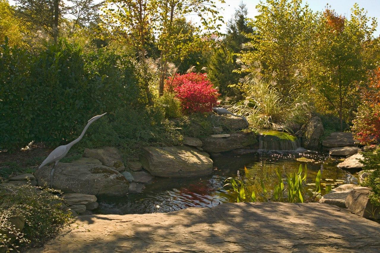 Ландшафтный дизайн Мостик каменный речной Дракон серый